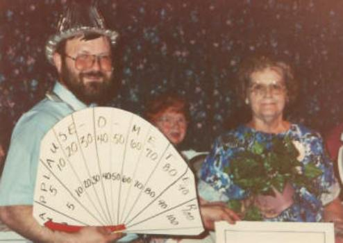 Senior's Day Talent Show Applause Meter in 1986.