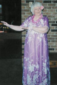 Senior's Day Luau Dancer in 1986.